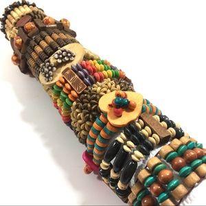 Jewelry - 3 Stretch Wood Bracelets